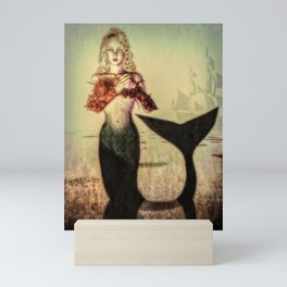 The Lonely Mermaid Mini Art Print