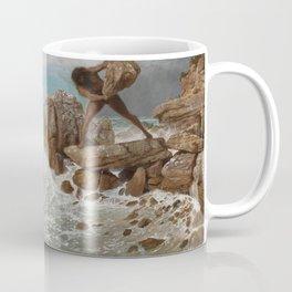Odysseus and Polyphemus by Arnold Böcklin, 1896 Coffee Mug
