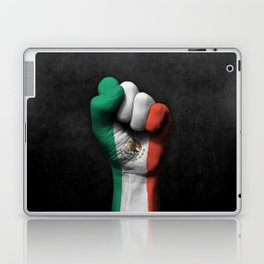 Mexican Flag on a Raised Clenched Fist Laptop & iPad Skin
