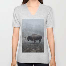 MeeTe Buffao Unisex V-Neck