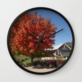 Russel orchards in the fall Wall Clock
