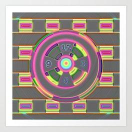 Greydartclock Art Print
