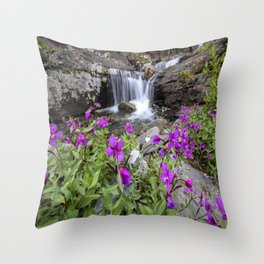 Secluded Waterfall Throw Pillow