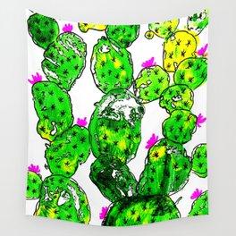Rustic Cactus Wall Tapestry