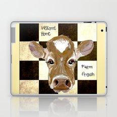 Farmhouse Cow, Welcome Home Farm Fresh Laptop & iPad Skin