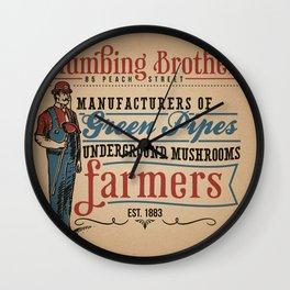 Plumbing Brothers Wall Clock