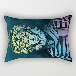 Hipster Lion Black and White Rectangular Pillow