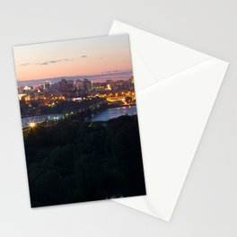 City Day closing, 121 years to Novosibirsk Stationery Cards