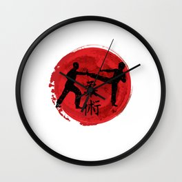 Martial arts Karate Brazilian Jiu Jitsu MMA Krav Maga Wall Clock