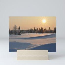 Russian winter Mini Art Print