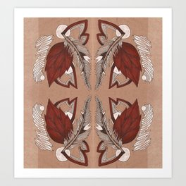 Four Feathers Art Print