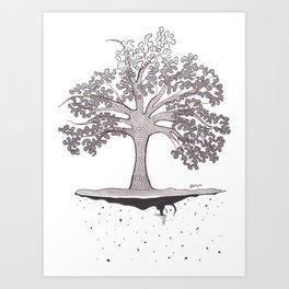 External tree Art Print
