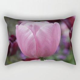 Tulips on Pink Rectangular Pillow