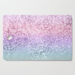 Unicorn Girls Glitter #1 #shiny #pastel #decor #art #society6 Cutting Board