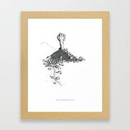Rock Cross Framed Art Print