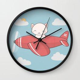Kawaii Cute Flying Cat Wall Clock