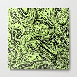 Marble pattern yellow pastel Metal Print