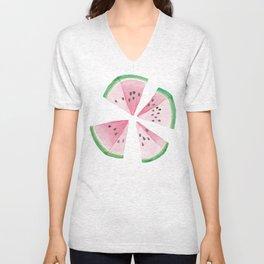 Watermelon quarters Unisex V-Neck