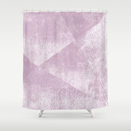 Mauve and White Geometric Ink Texture Shower Curtain