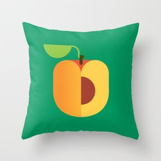 Fruit: Apricot Throw Pillow