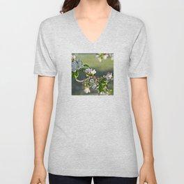 Spring Blossoms Unisex V-Neck