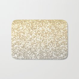 Gold and Silver Glitter Ombre Bath Mat