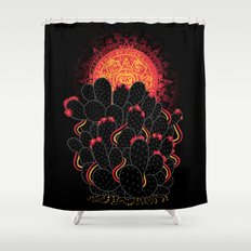 Cactus Sunset Shower Curtain