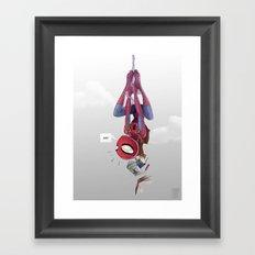 Spiderman, Back to School Framed Art Print