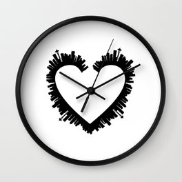 Seattle Heart Wall Clock