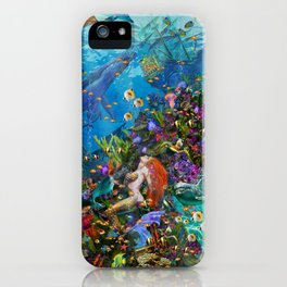 A Mermaid in Poseiden's Realm iPhone Case