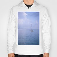 sailboat Hoodies featuring Sailboat by lennyfdzz