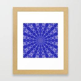 Chakra Mandala (lapis blue) Framed Art Print