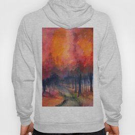 Nighttime Autumn Landscape Nature Art Hoody