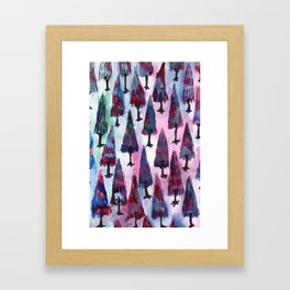 galaxy winter Framed Art Print