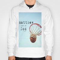 scripture Hoodies featuring Matthew Scripture Name Art by KimberosePhotography