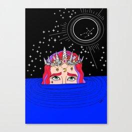 new moon in virgo Canvas Print