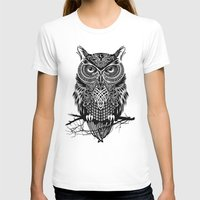 men T-shirts featuring Warrior Owl 2 by Rachel Caldwell