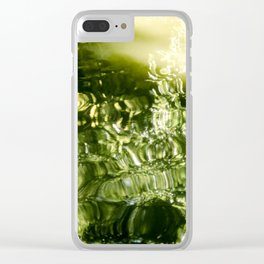 Reflecting Greens Clear iPhone Case