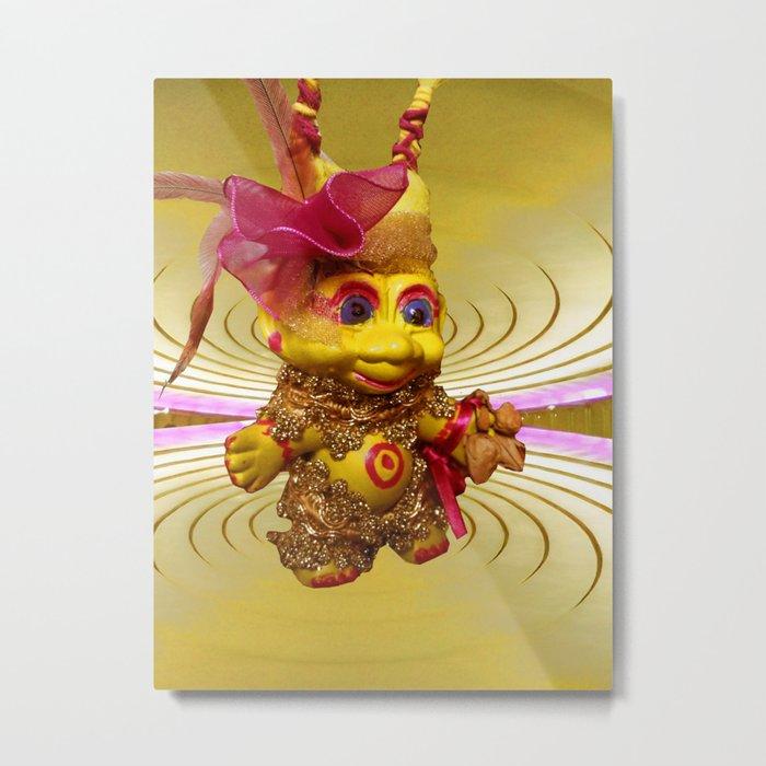 Yellow Troll Metal Print