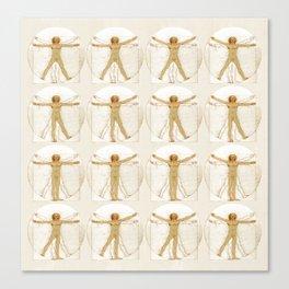Vitruvian Man Table Canvas Print