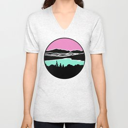 Lafayette and Franconia Notch from Shadow Lake Unisex V-Neck