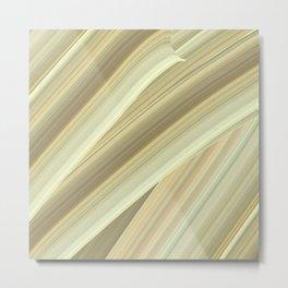 Cream Twists Metal Print
