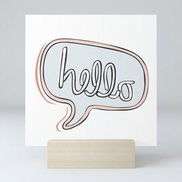Hello! Mini Art Print