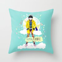 shinee Throw Pillows featuring SHINEE Taemin by Haneul Home