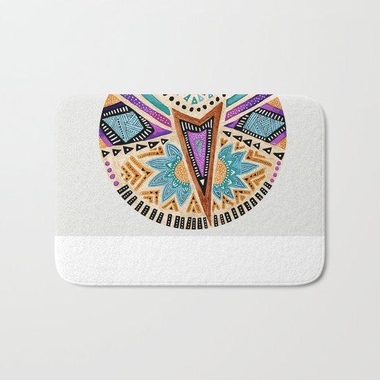 Tribal Folk Icon Bath Mat