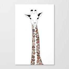 Zen Giraffe Canvas Print