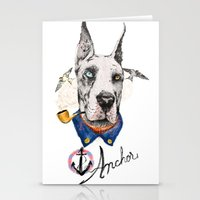 great dane Stationery Cards featuring Mr. Great Dane by dogooder