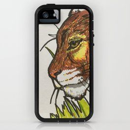 Cougar in the grass iPhone Case