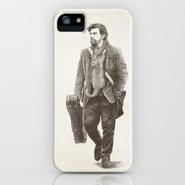 The Man Guitar Cat iPhone Case