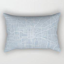Tallahassee Map, USA - Slate Rectangular Pillow